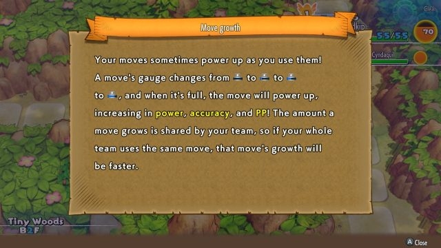 Pokemon Mystery Dungeon DX move growth