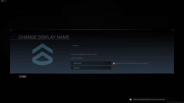 how to change your name in Call of Duty: Warzone
