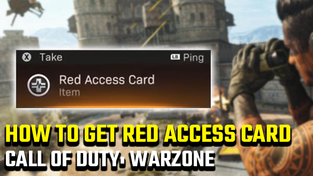 Call of Duty: Warzone Red Access Card location