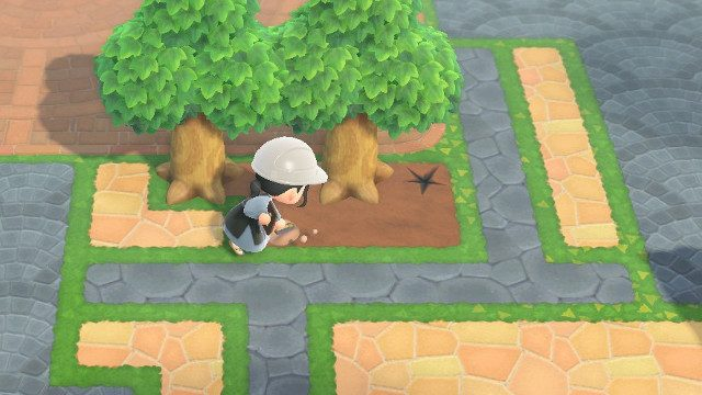How to move rocks in Animal Crossing: New Horizons fossil dirt