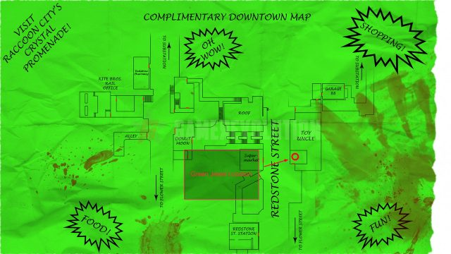 Resident Evil 3 remake Green Jewel Location