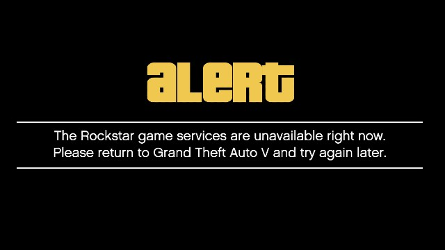 GTA Online and Red Dead Online Rockstar game services are unavailable right now error