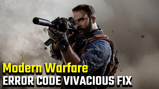 call of duty modern warfare error code vivacious fix