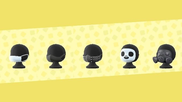 Animal Crossing face mask in-game