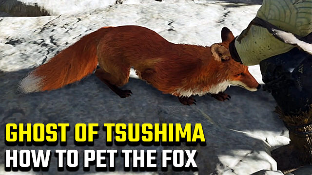 how do you pet the fox in ghost of tsushima