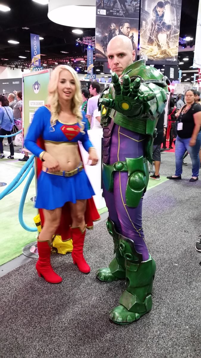 Supergirl and Lex Luthor