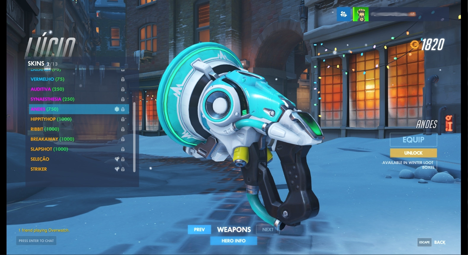 Lucio (Andes) Weapon