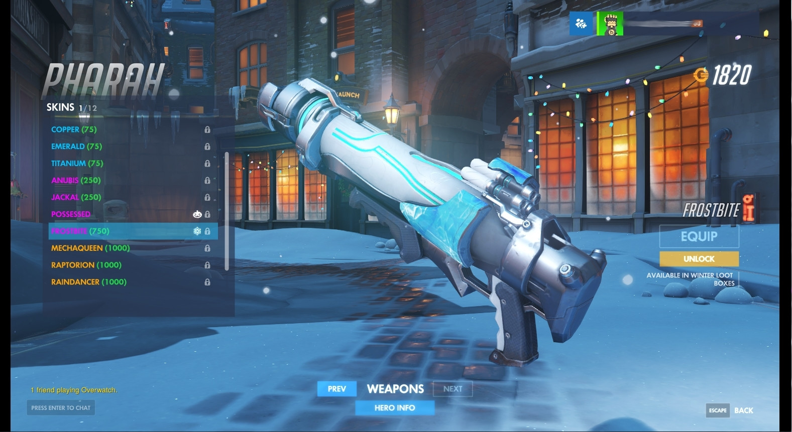 Pharah (Frostbite) Weapon