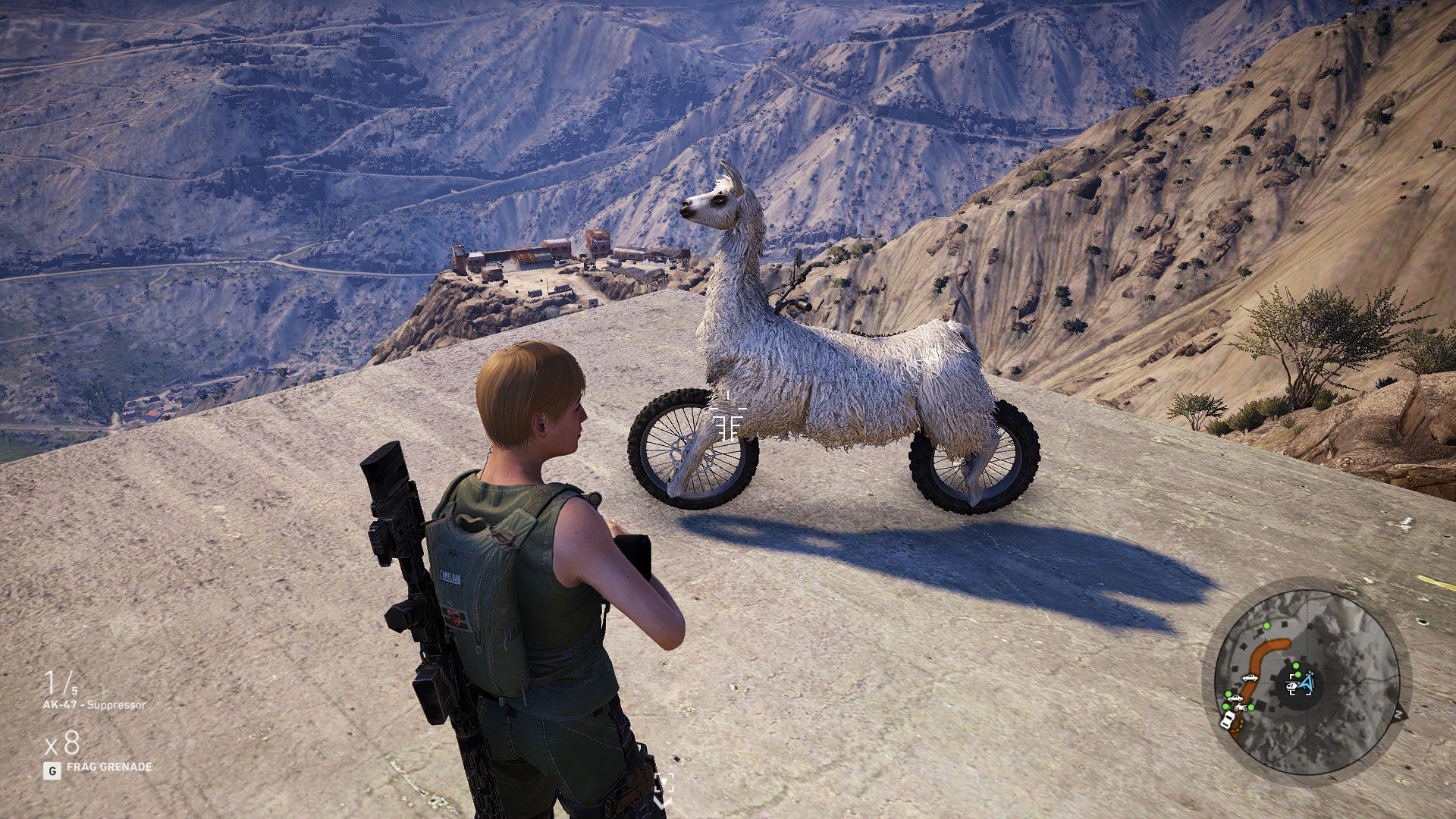 Ghost Recon Wildlands Players Find A Llama Motorcycle With Rainbow